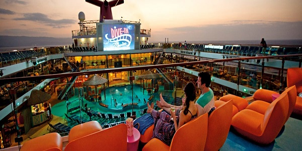 Carnival Cruises Carnival Sunrise Dive-In Movies