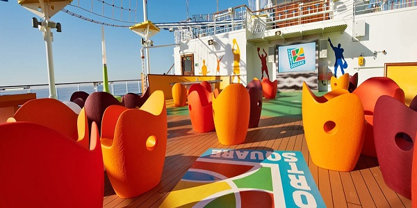 Game Area On Board the Carnival Sunrise