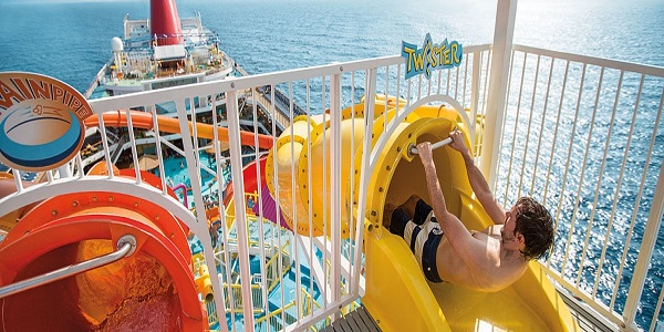 Waterworks Aqua Park On Board the Carnival Sunrise Carnival Cruises