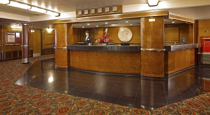 Main Lobby - Reception Area - Copyright: The Queen Mary Hotel