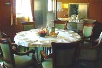 Typical Dining Room On Board a Passenger Freighter