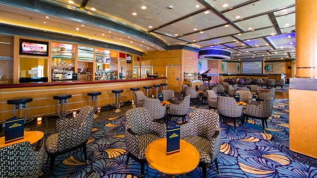 Promenade Lounge Onboard Disney Cruise Line's Disney Magic