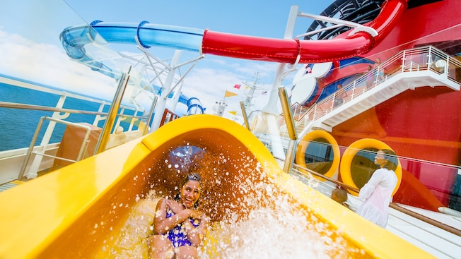 AquaDunk Water Park On Board the Disney Magic - Disney Cruises