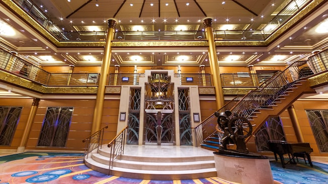 Art Deco Style of the Disney Magic's Artium