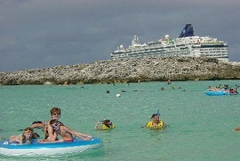Enjoying the water at Great Stirrup Cay Bahamas  Norwegian Cruise Line Private Island