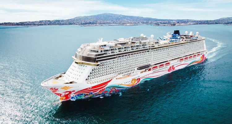 Norwegian Cruise Line's 2021-2022 Norwegian Joy Sailing from New York to Bermuda - Pictured Norwegian Joy